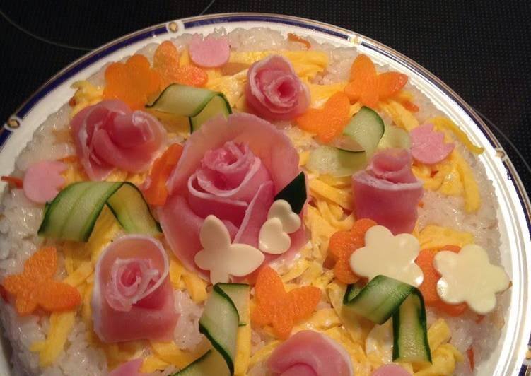 Doll Festival Sushi Cake