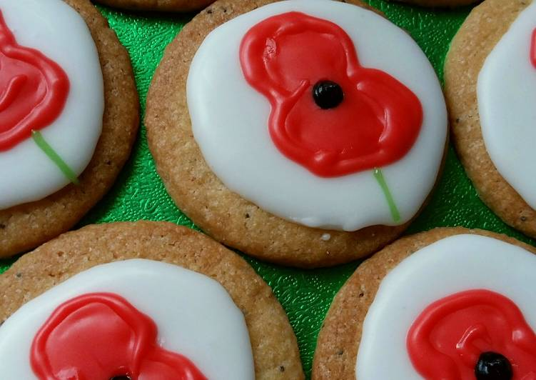 Vickys Remembrance Day Lemon Poppy Seed Cookies GF DF EF SF NF