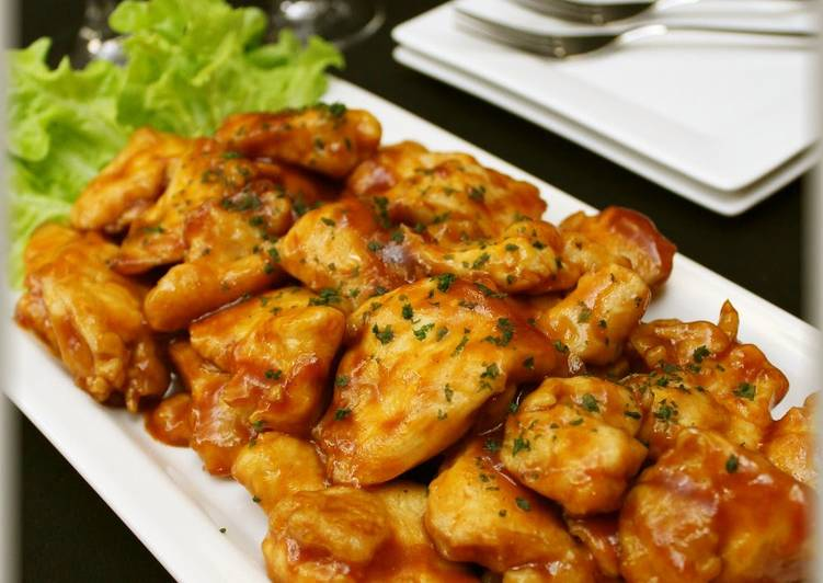 Stir-fried Juicy Chicken Breast with Barbecue Sauce