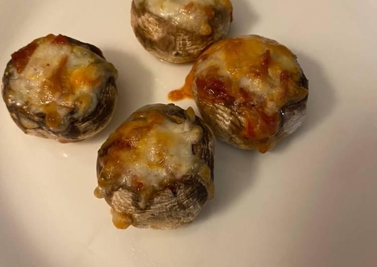 Stuffed pizza mushrooms