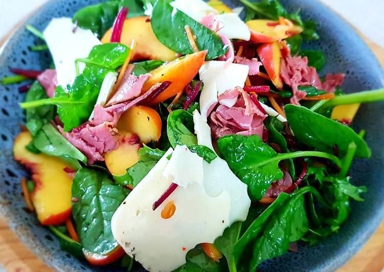 Yellow Peach with Smoked Ham Salad