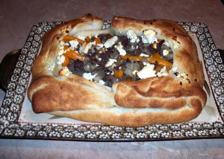 Mediterranean beef tart