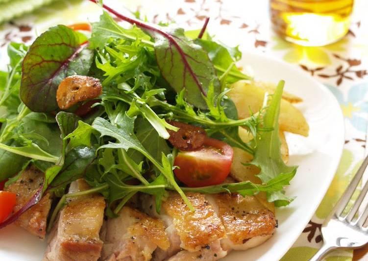 Sauted Garlic Chicken Salad