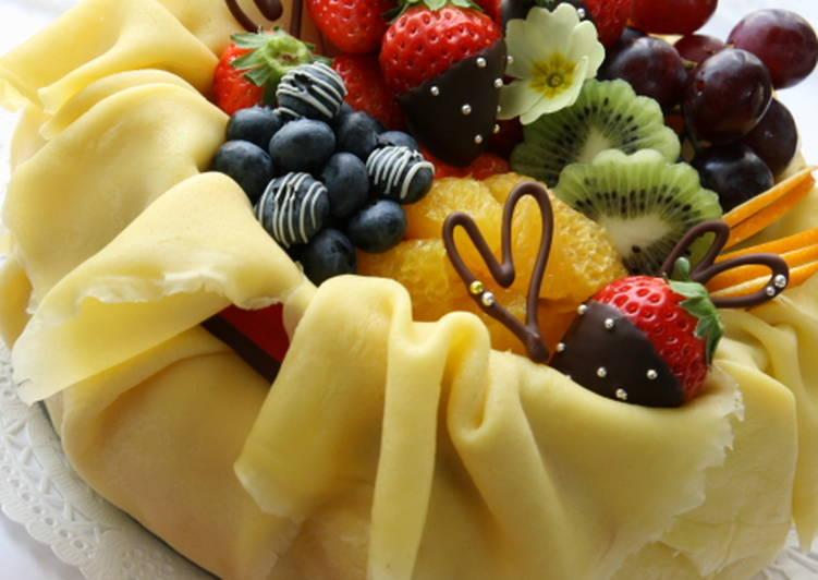 Elegant Mille Crepe for Valentine's Day!