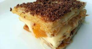 Peach And Chocolate Millefeuille
