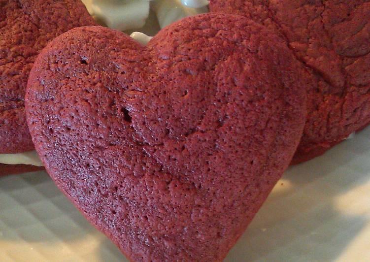 Chocolate Chip Red Velvet Whoopie Pies