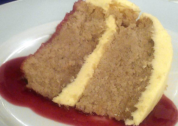 Vickys Lavender Cake with Lemon Buttercream, GF DF EF SF NF