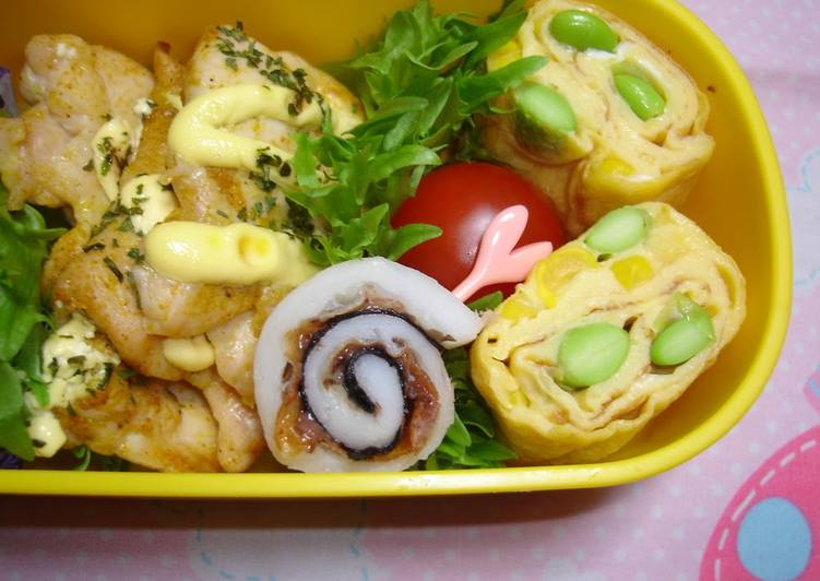 Easiest Way to Prepare Perfect Ume-Chikuwa Rolls for Bento
