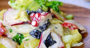 Octopus and Lettuce Salad with Rich Mayonnaise Dressing