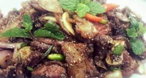Nuae Namtok or  Thai Spicy Grilled Beef Salad