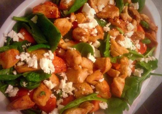 Warm Chicken & Sweet Potato Salad With Ranch Dressing!