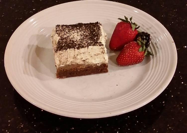 Tiramisu Layered Fudge Brownies