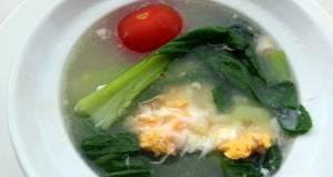 Bak Choy And Egg Soup