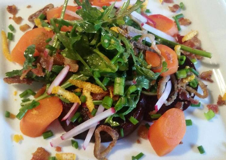 Recipe of Speedy Beet & Carrot Salad