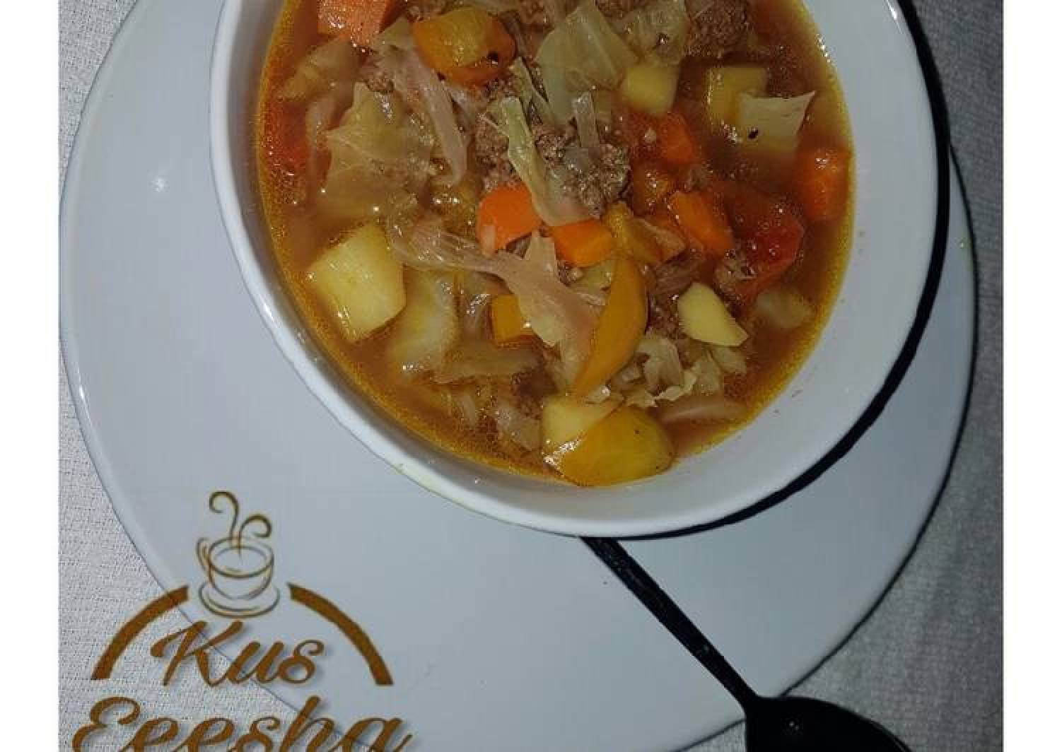 Mince meat and vegetable soup