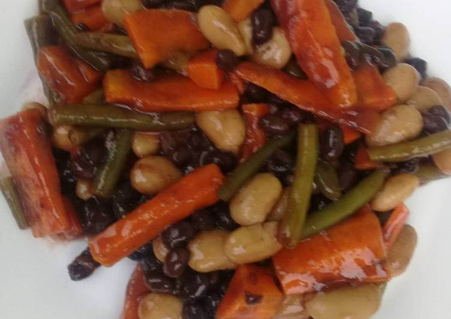 Beans & carrot salad