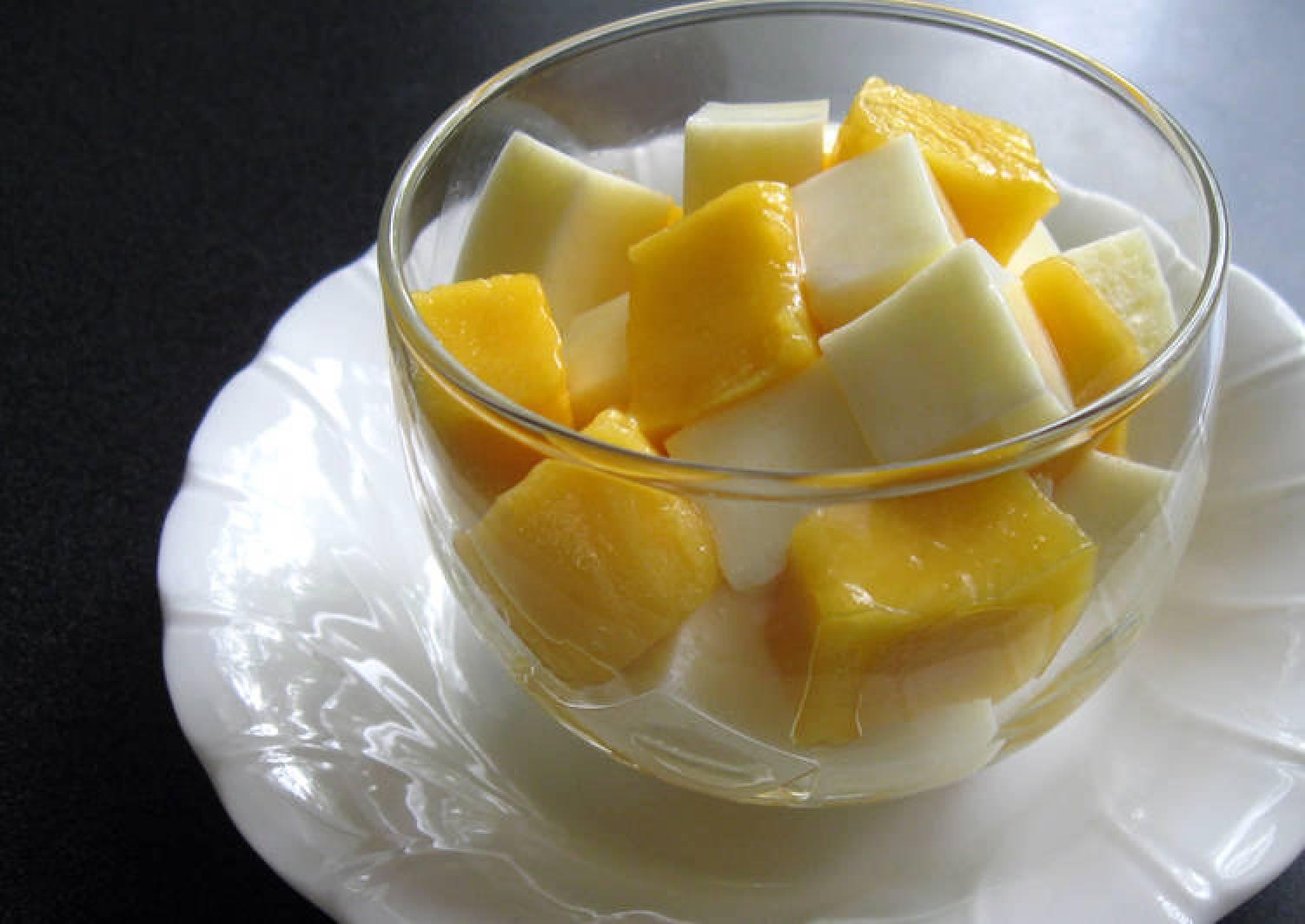 Creamy Agar Milk Jelly & Mango