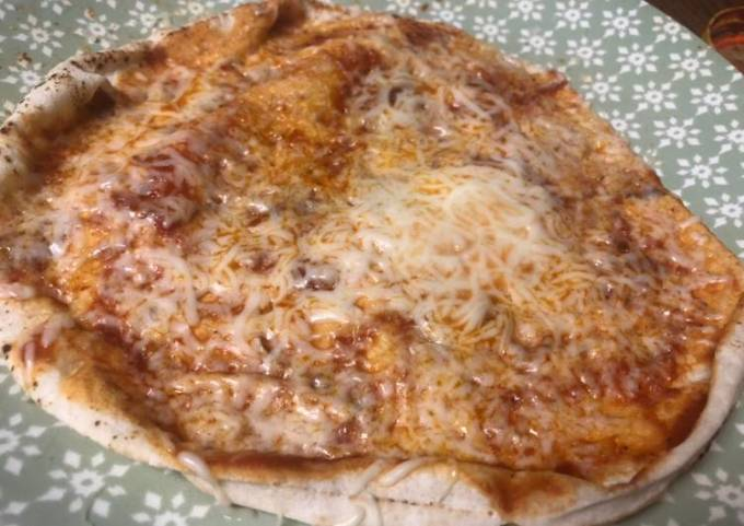 Easy fast 3 minute pizza
