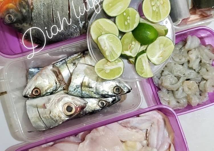 Tips menyimpan ikan,ayam,udang dll #DiRumahAja #WeekendChallenge