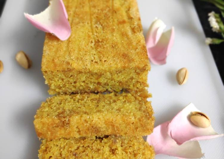 Rose pistachio cake