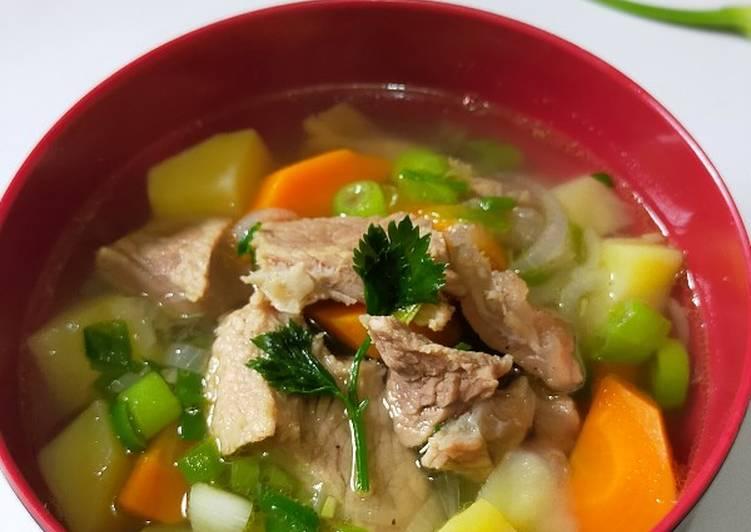Resep Rahasia Sup daging empuk, praktis & nikmat Paling Gampang