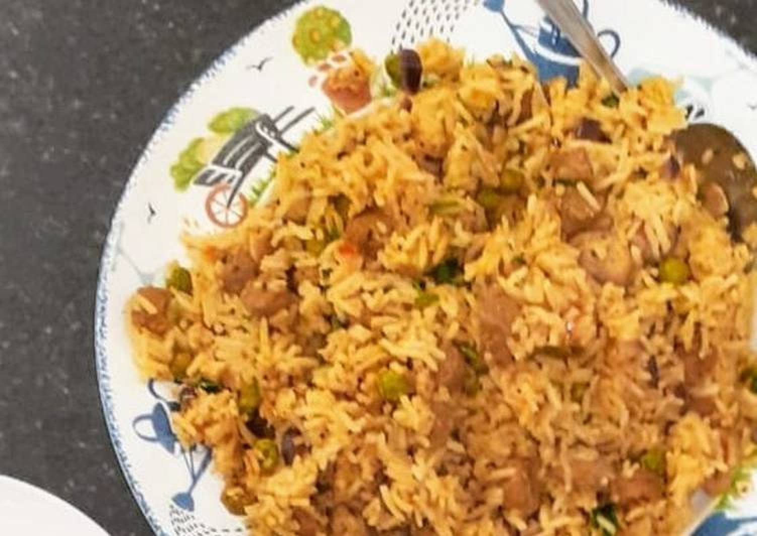 Soya nuggets fried rice
