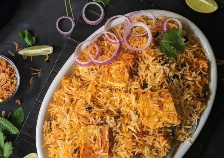 Recipe of Quick Paneer Makhani Dum Biryani