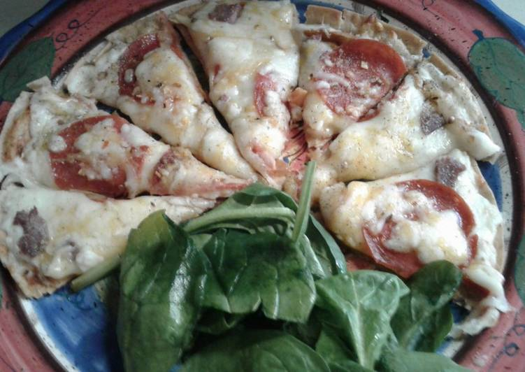 Steps to Make Homemade Low carb tortilla pizza