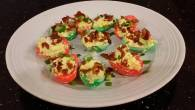 Permalink to How to Make Perfect Bacon and Jalapeno Deviled Eggs colored for Christmas