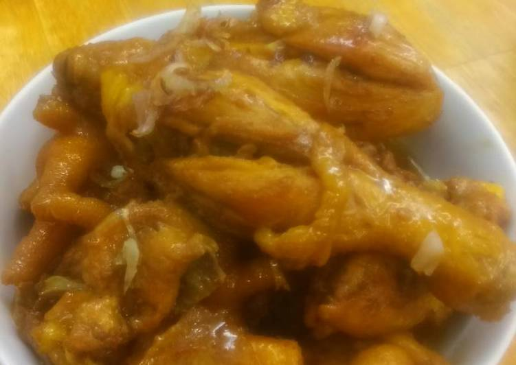 Butter chicken with sweet soy sauce