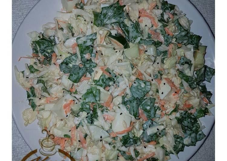 Vegetables and egg salad
