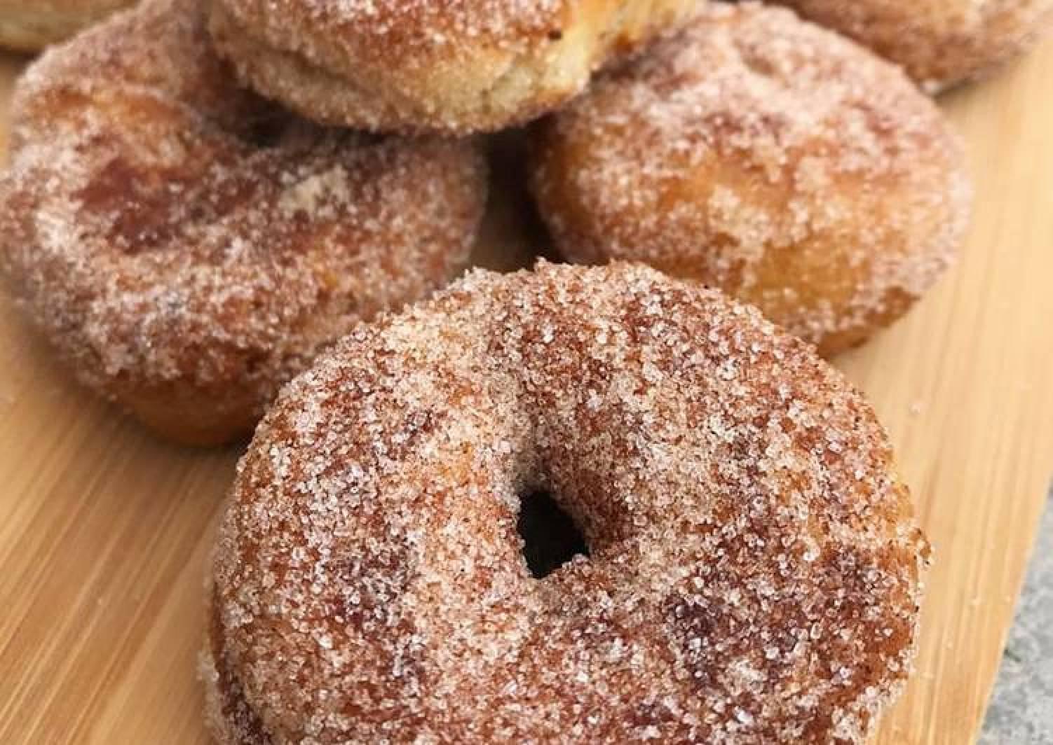 Quick Cinnamon Sugar Doughnuts (Egg & Dairy Free & No Yeast)