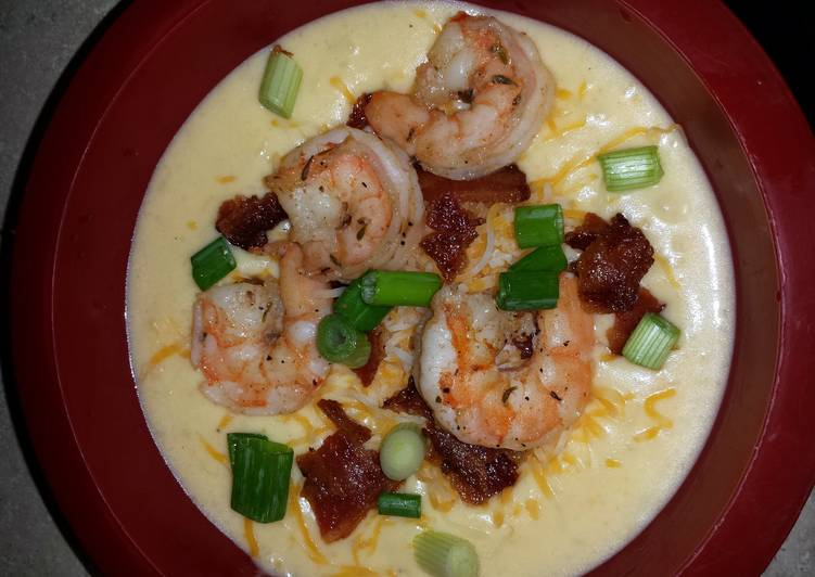 Loaded Baked Potato Soup with Bacon and Shrimp, Finding Healthy Fast Food