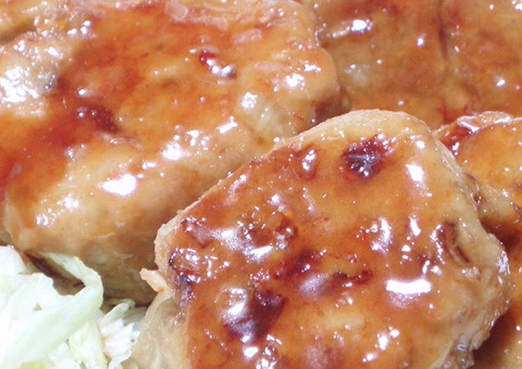 Fluffy Crispy Lotus Root Chicken Tsukune Patties