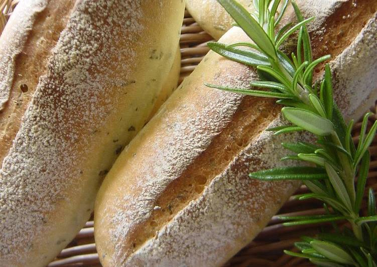 Recipe of Homemade Mini Baguettes with Parsley and Lemon Using a Bread Maker