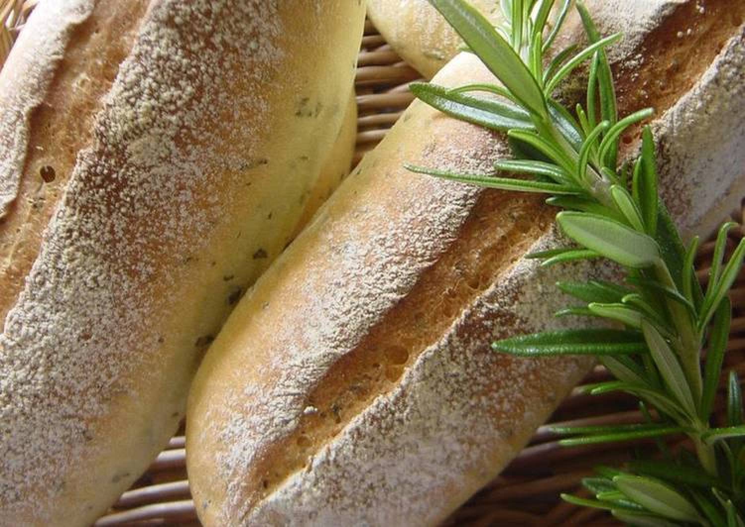 Mini Baguettes with Parsley and Lemon Using a Bread Maker