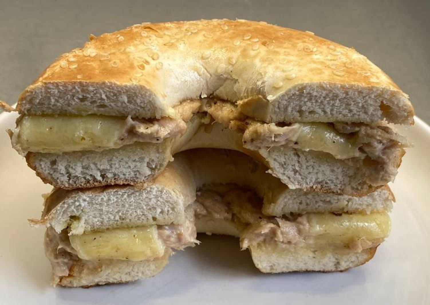 Deany's bagel tuna melt