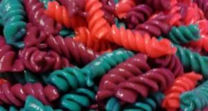 Rainbow Colored Pasta  Holiday