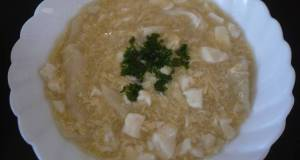 Creamy Egg Soup with Crumbled Tofu