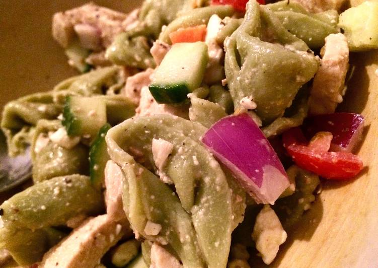 Chicken Caesar Tortellini Salad