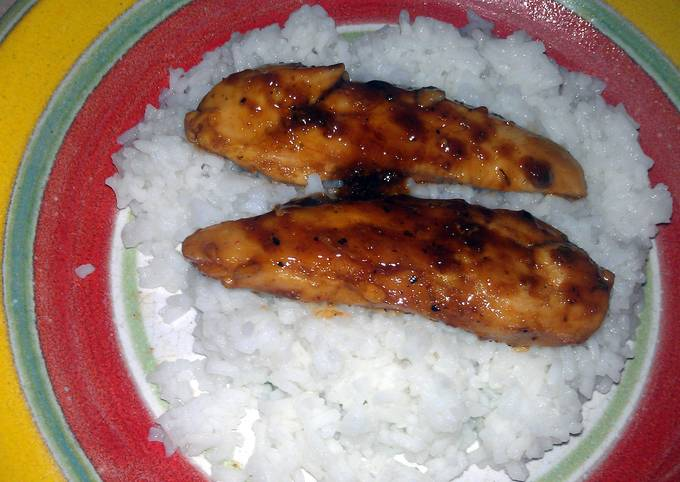 Easiest Way to Make Delicious sweet n sour chicken over rice