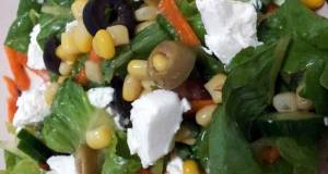 Romaine salad with feta cheese by Pam