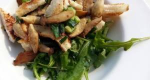Mushroom and arugula salad  breakfast/side dish vegan