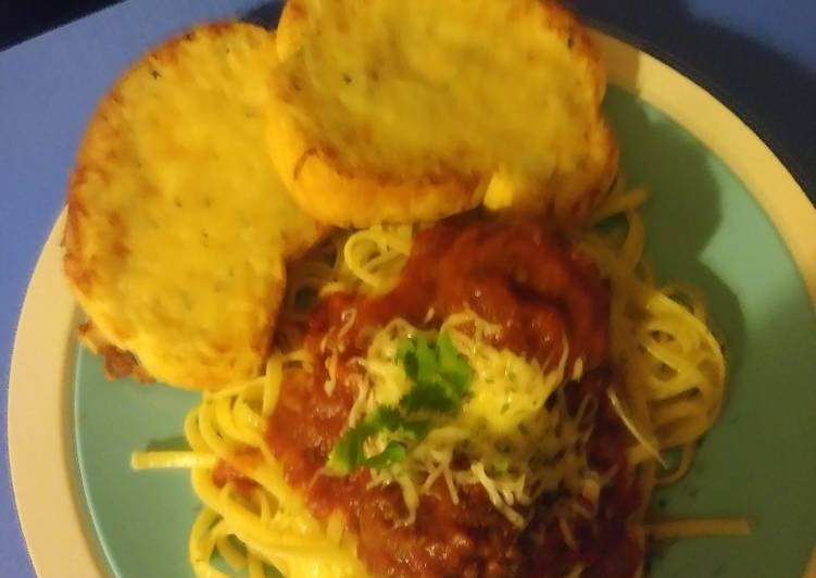 Slow cooker spaghetti & meatballs with marinara sauce