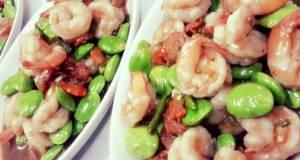 Bitter Beans Stir fried with Fresh Shrimps