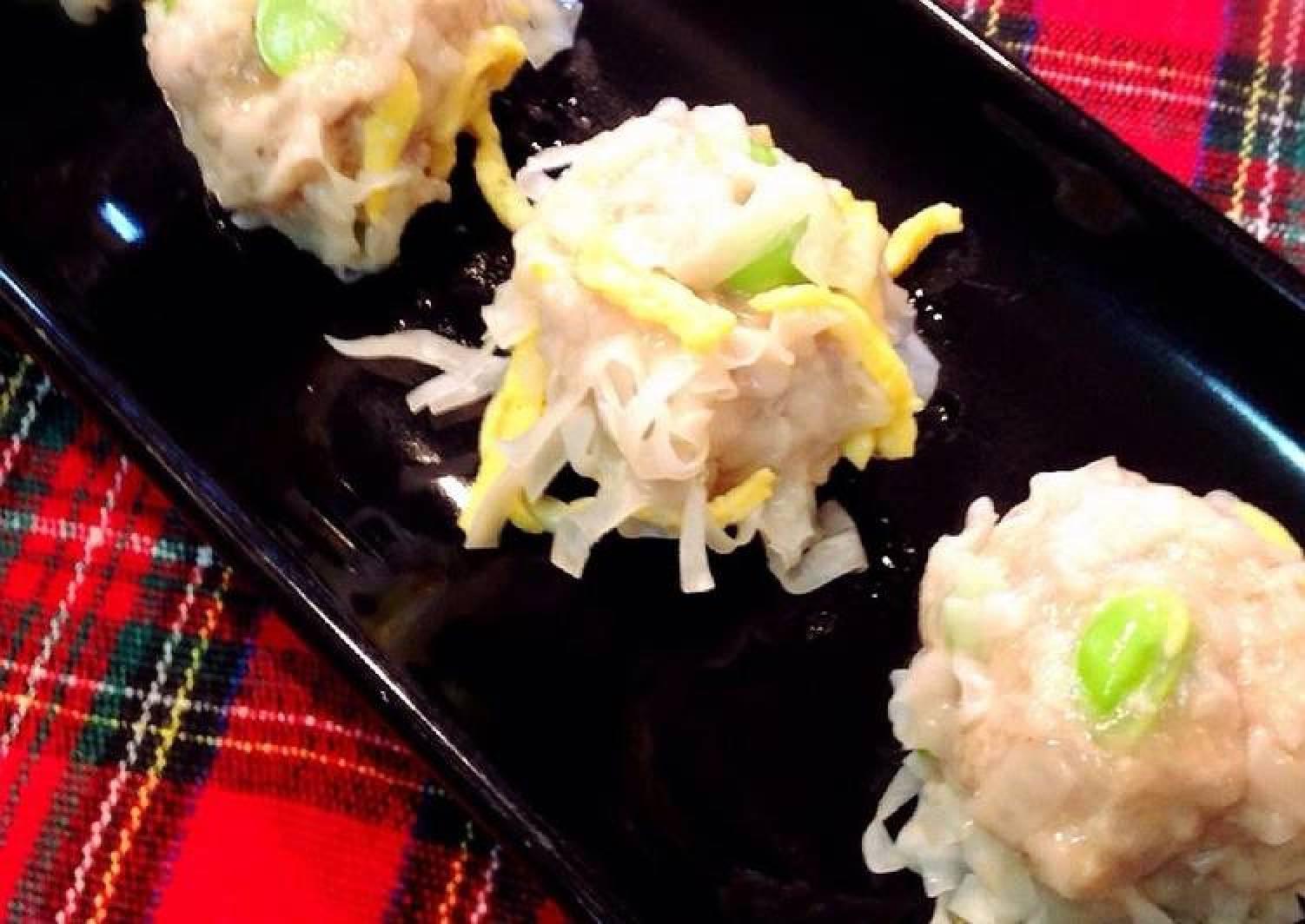 Bursting with Edamame! Shumai Dumplings with Wings