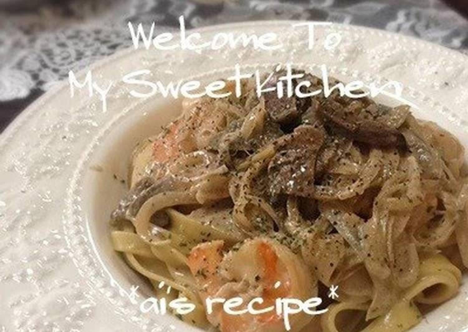 Authentic Porcini and Cream Pasta