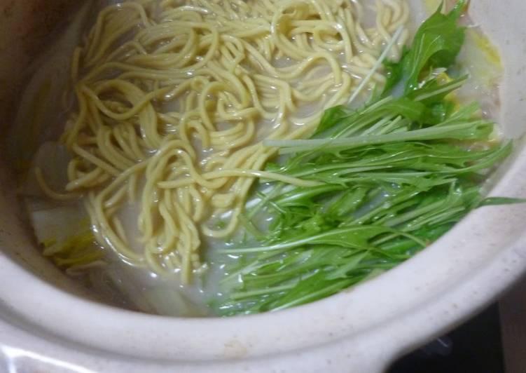 Sesame Soy Milk Ramen Noodles