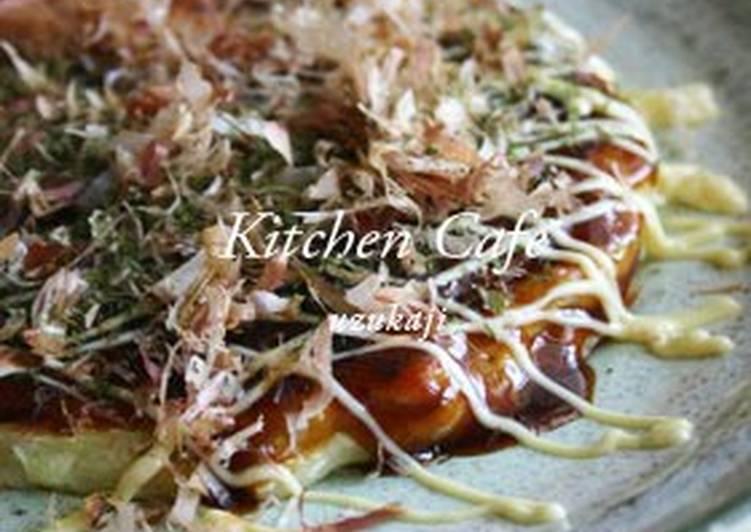 Okonomiyaki with Lots of Cabbage