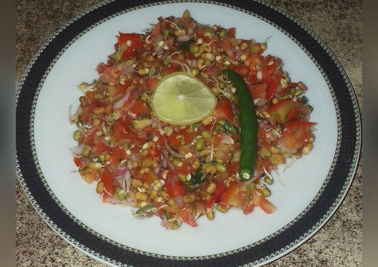 Simple Way to Prepare Speedy Moong and matki salad